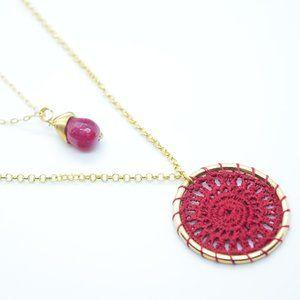 Dreamcatcher Gold Plate Necklace